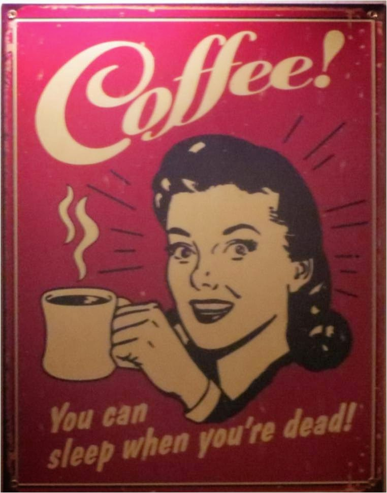 An old coffee ad to enhance the coffee consumption