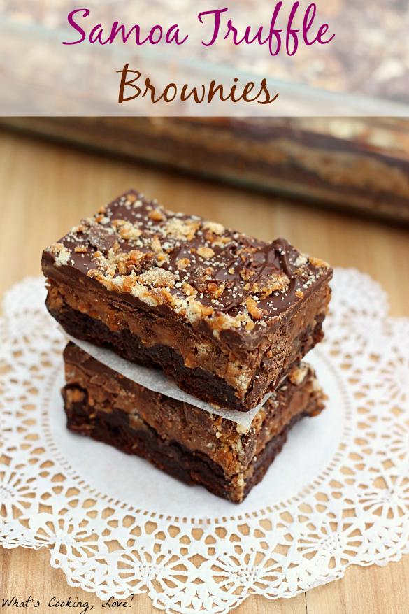 Samoa Truffle Brownies