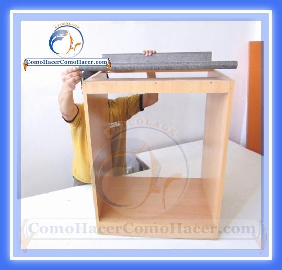 As de facil se hace un mueble para la cocina taringa for Tableros para encimeras cocina