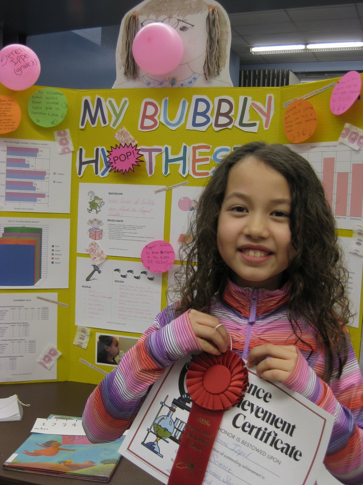 """bubble gum science project It is """"science fair"""" season again which means it's time for mom to do some   kids love bubble gum and there are lots of science experiments you can craft."""