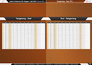 Jadwal KRL per 1 April 2013 Tangerang-Duri & Duri-Tangerang