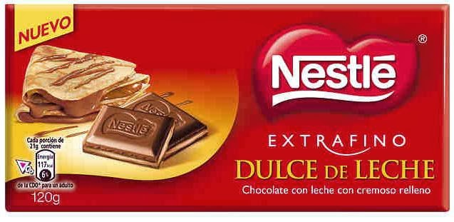 chocolate nestle dulce leche
