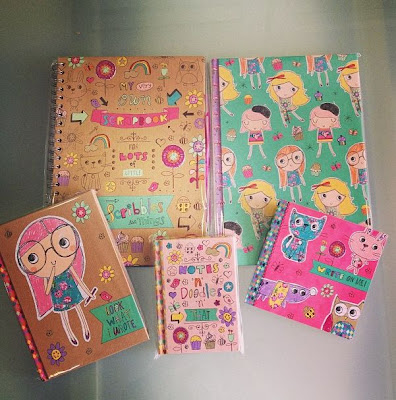 Hallmark stationery set, quality notebooks, vintage floral and cute notebooks