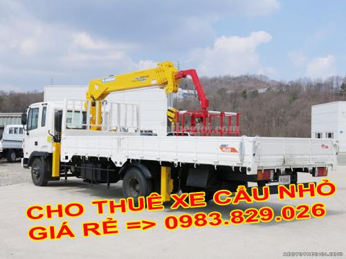 cho thuê xe tải cẩu để chở hàng
