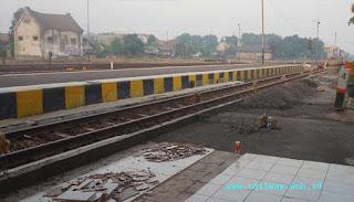 Pembangunan Peron Stasiun Mojokerto