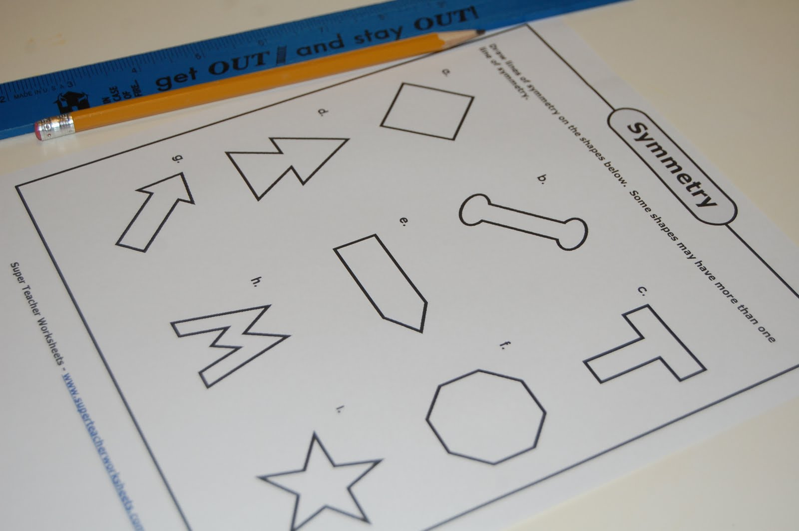 Drawing Lines Of Symmetry Worksheet : Our creative day symmetry