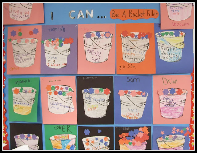 "photo of: ""I Can.... Be a Bucket Filler"" Bulletin Board via RainbowsWithinReach"