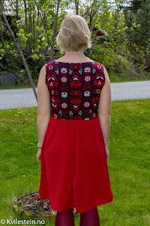 kjole tungt stoff