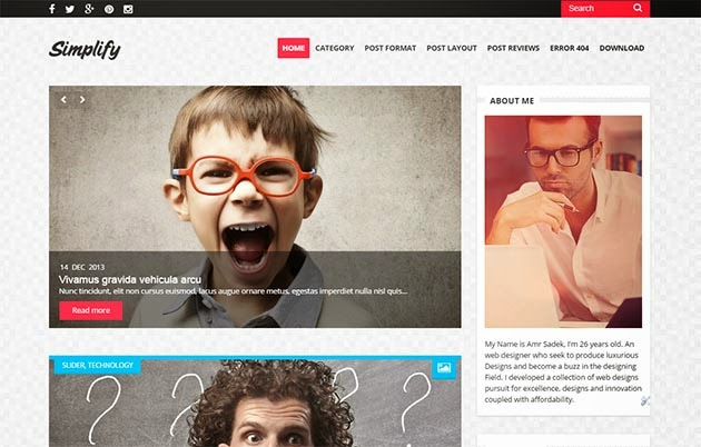 Simplify Clean & Responsive Blogger Template