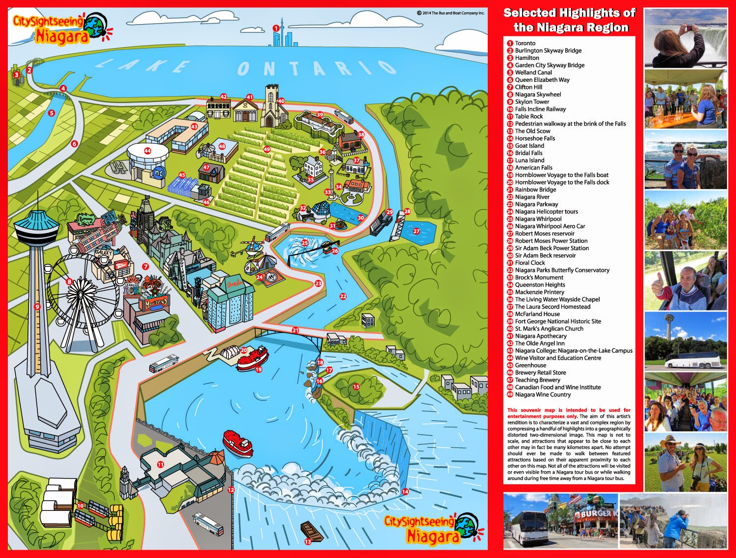 Maps of Niagara Falls for travelers.