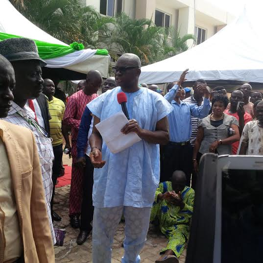 Ekiti Governor Fayose gives automatic employment to 10 disabled people and 35 wheelchairs