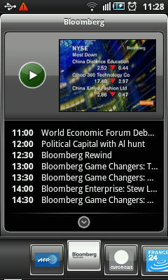 Android TV App - Bloomberg TV