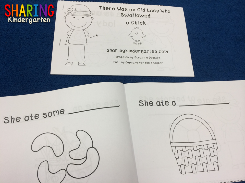 http://www.teacherspayteachers.com/Product/There-Was-an-Old-Lady-Who-Swallowed-a-Chick-Literacy-219276