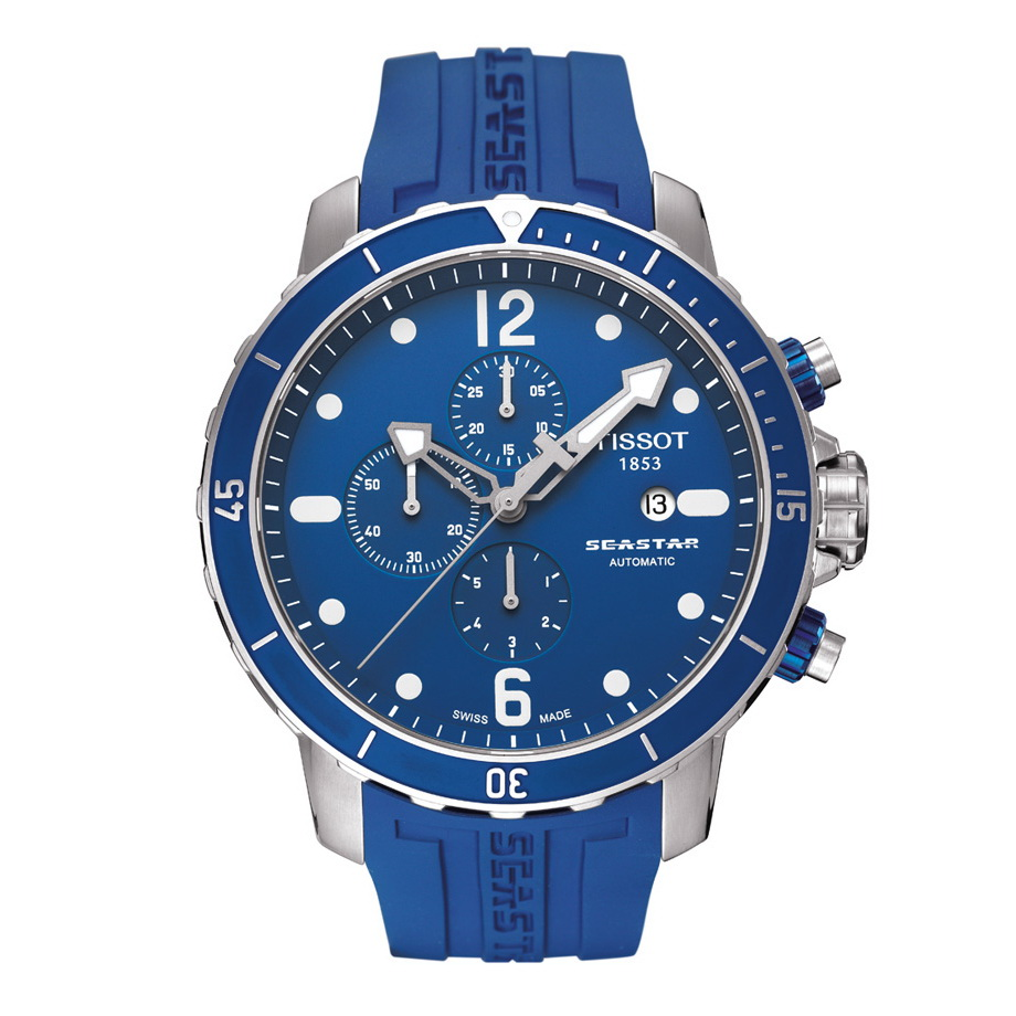 Tissot seastar 1000 blue for Celebrity tissot watches