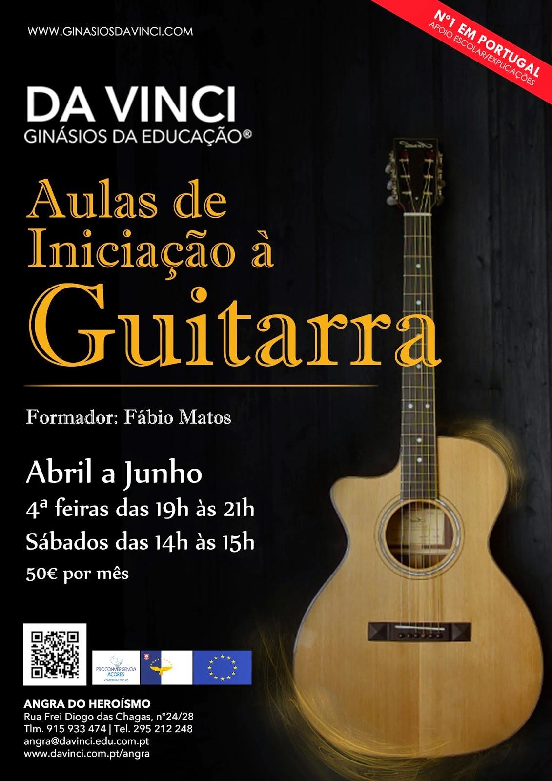 Aulas de guitarra em Angra do Heroísmo