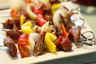 (Thịt Bò Xiên Nướng) - Grilled Beef BBQ
