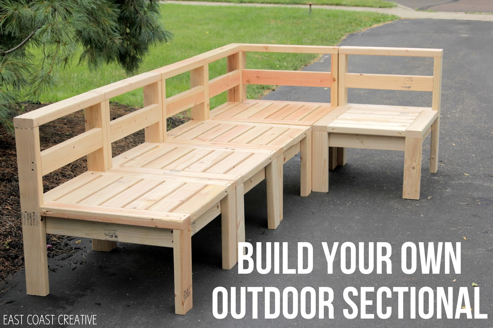 How to build an outdoor sectional knock it off east Diy outdoor furniture