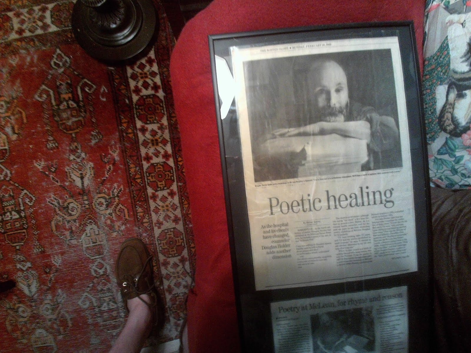 Poetic Healing at McLean Hospital: Doug Holder interviewed by Boston Globe Feb. 2000