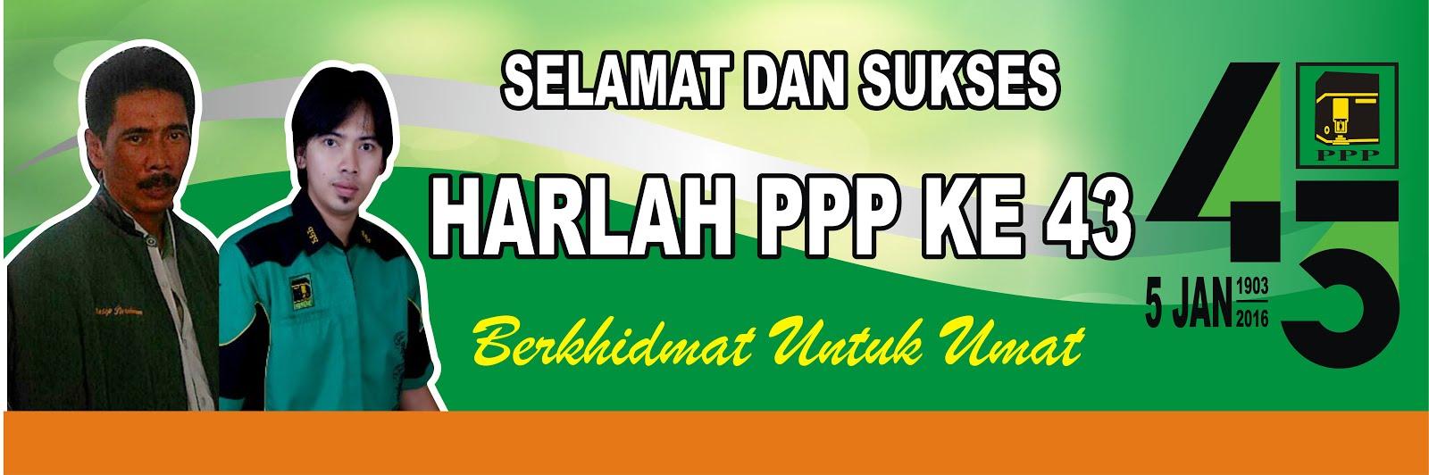 Ketua dan Sekretaris DPC PPP Kabupaten Sukabumi