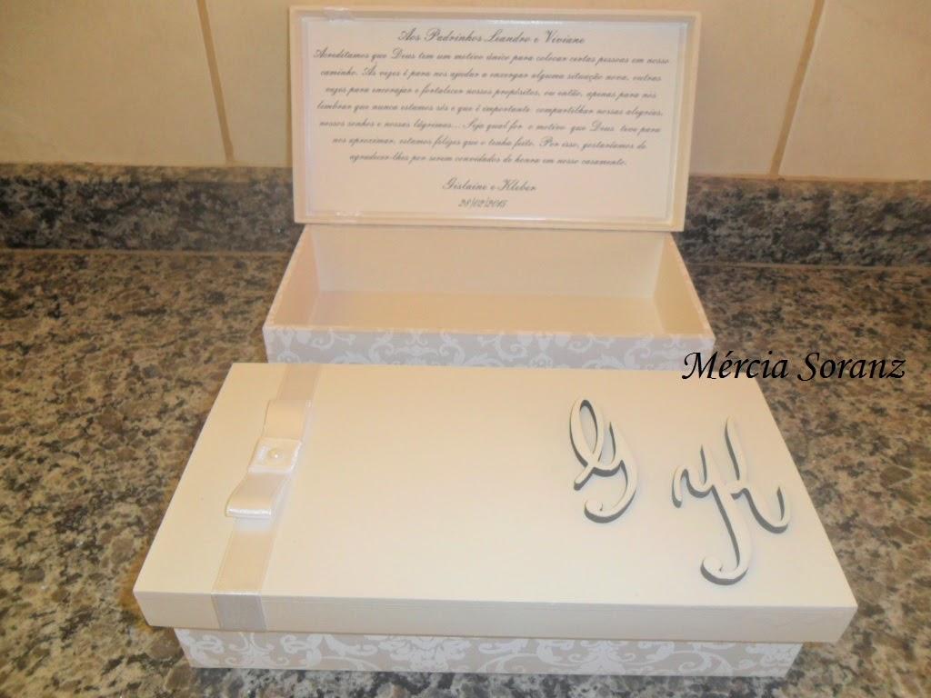 Soranz Artes: Caixa convite para padrinhos de casamento #8A6841 1024x768