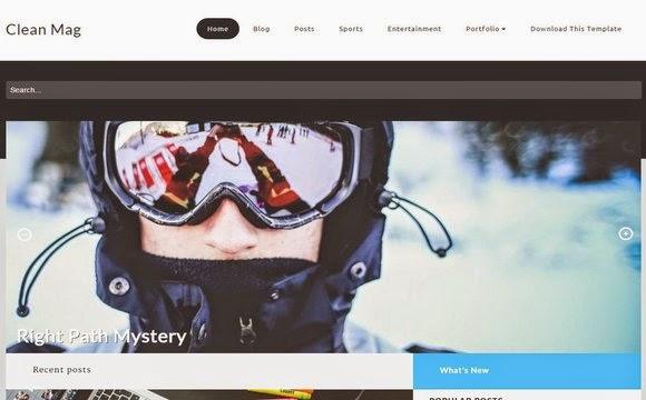 Clean Mag SEO Premium Blogger Template