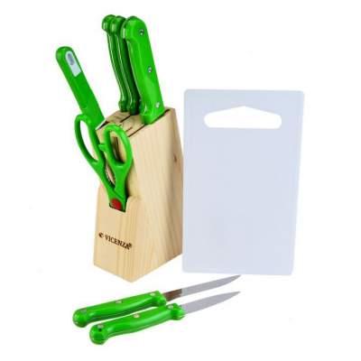 pisau set dapur isi 10 Vicenza hijau