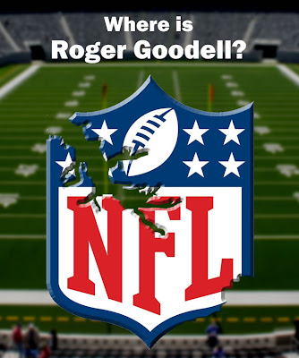 Where is Roger Goodell? funny NFL shield, funny roger goodell