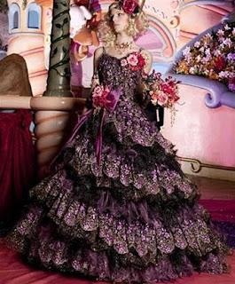 gothic Purple Wedding Dresses