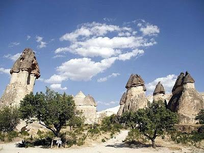 Las Chimeneas de las Hadas, en la Capadocia, Turquia
