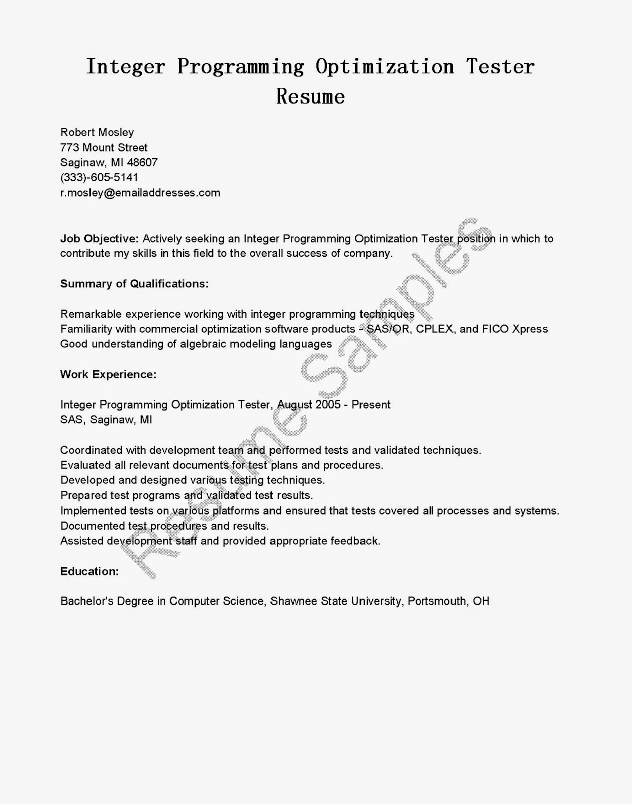 Qa Cover Letter Gallery - Cover Letter Ideas