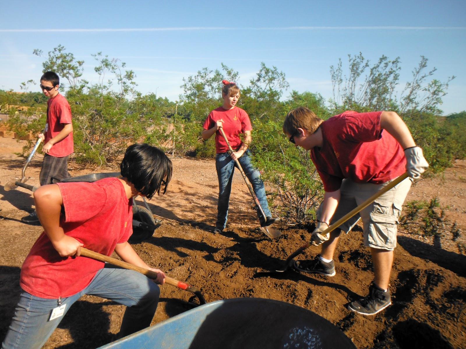 Teen Environmentalist Exploring Nature DBG Community Garden