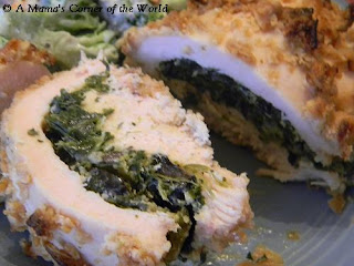 Spinach and Feta Stuffed Chicken Breast Recipe with Onion Coating