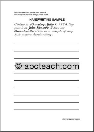 Elementary Handwriting Practice