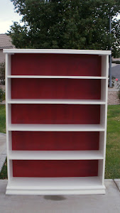 Tall Shabby Chic Bookcase  *SOLD*