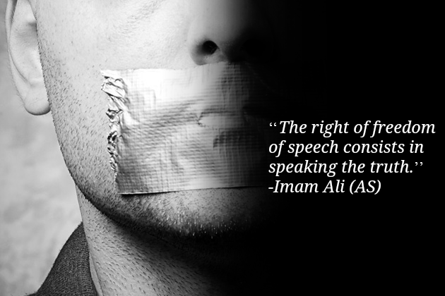 The right of freedom of speech consists in speaking the truth.