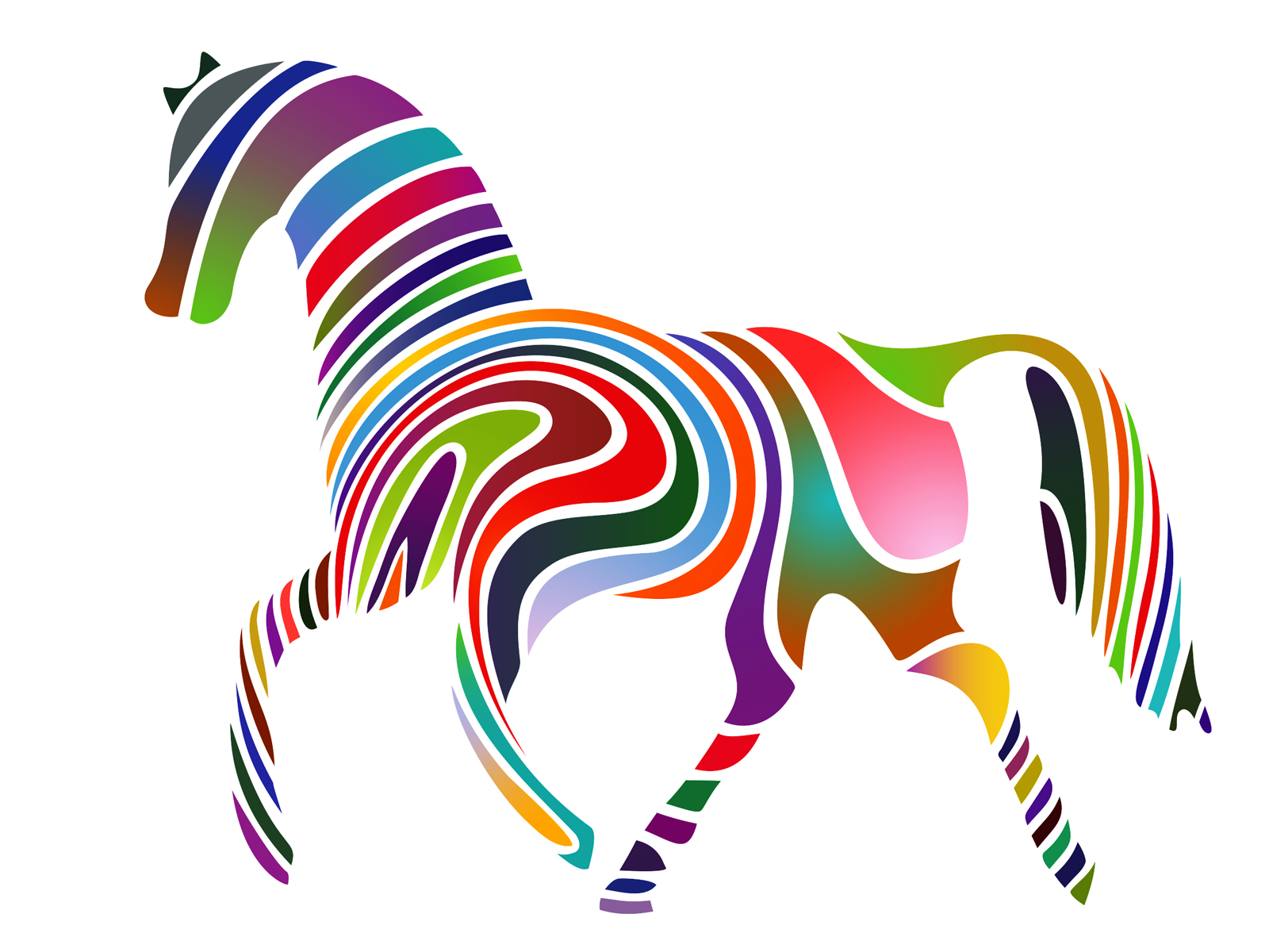 Abstract Horse Powerpoint Template Ppt Backgrounds Templates