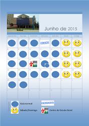Calendário Educação Infantil Junho 2015