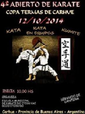 4º Abierto de Karate Copa Termas de Carhue 12/10/2014