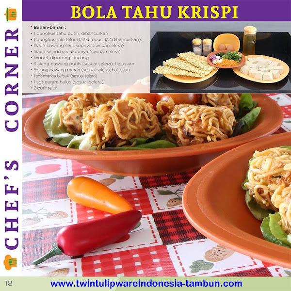 Chef's Corner : Resep Bola Tahu Krispi