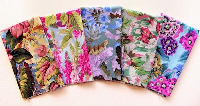 Robin Atkins, focal fabrics for next shimmer quilt