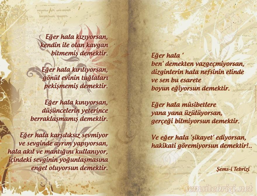 HAKİKAT - ŞEMS-İ TEBRİZİ