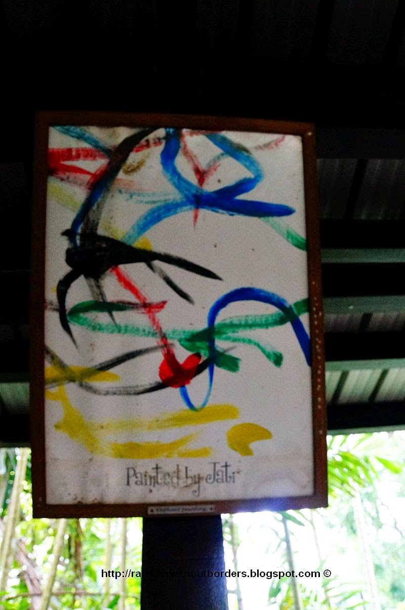 Painting done by an elephant in Singapore Zoo