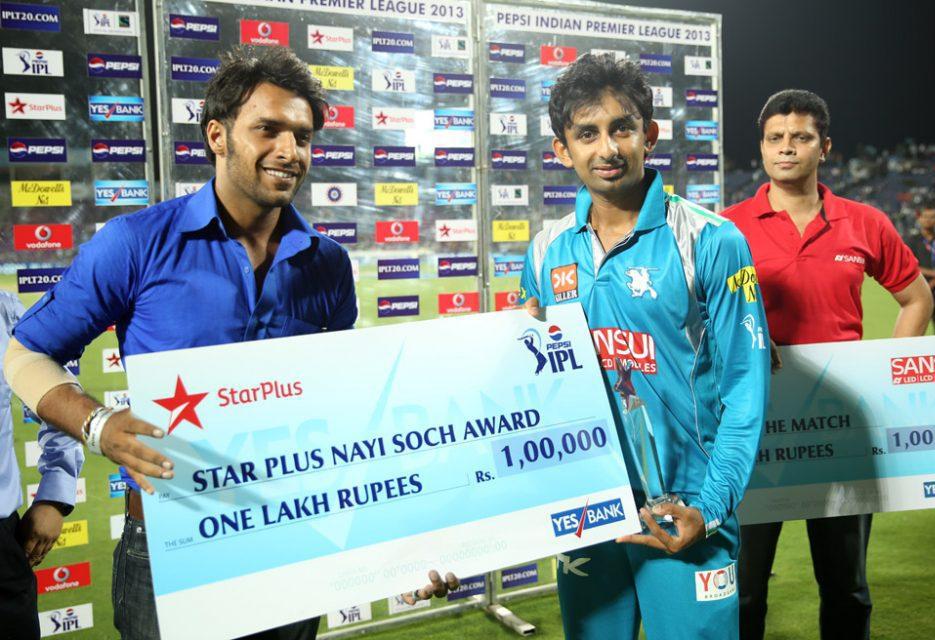 Raiphi-Gomez-Nayi-Soch-Award-PWI-vs-DD-IPL-2013