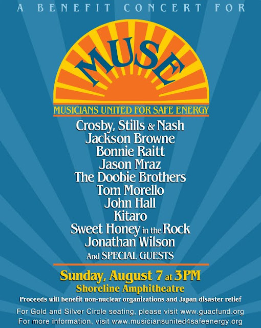 CROSBY, STILLS AND NASH, JACKSON BROWNE, BONNIE RAITT, JOHN HALL, THE DOOBIE BROTHERS, JASON MRAZ, TOM MORELLO, KITARO, SWEET HONEY IN THE ROCK, JONATHAN WILSON, AND OTHERS TO PERFORM A BENEFIT CONCERT TO SUPPORT DISASTER RELIEF EFFORTS IN JAPAN AND NON-NUCLEAR GROUPS WORLDWIDE