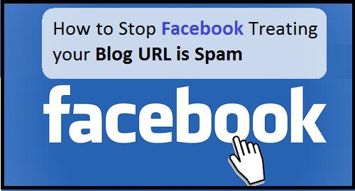 Facebook URL as Spam