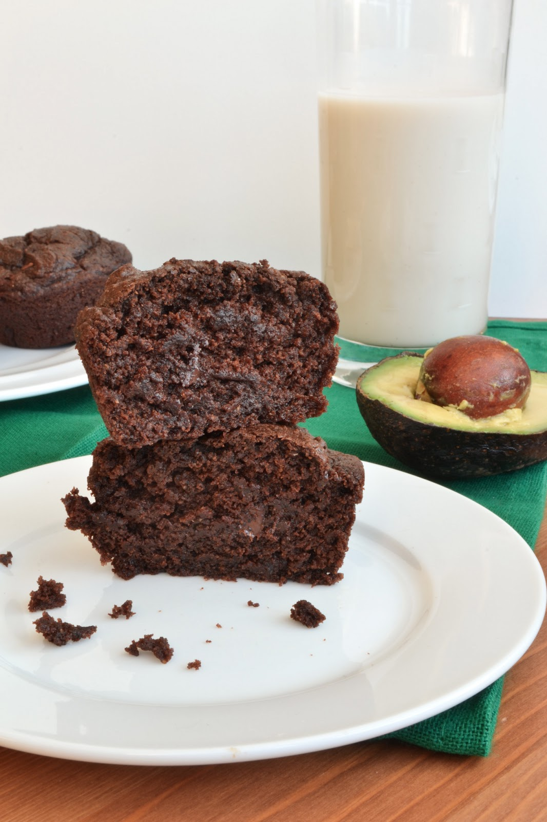 Healthy Chocolate Avocado Muffins
