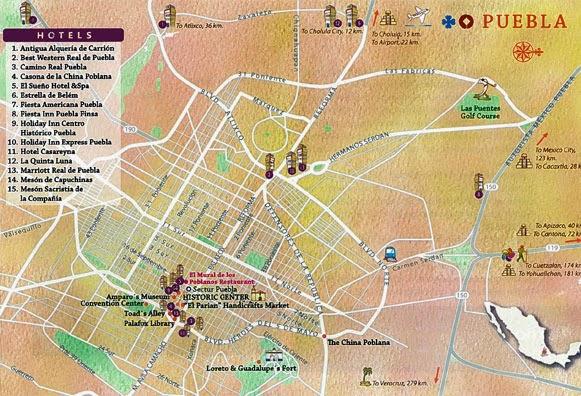 Puebla City, Mexico map