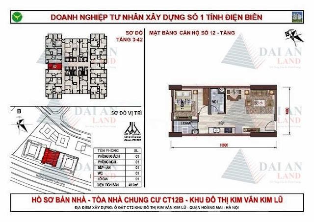 Căn 12 - Tòa CT12B Chung Cư Kim Văn Kim Lũ