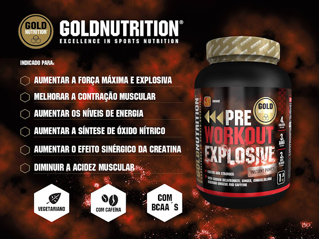 Pre-Workout Explosive Gold Nutrition