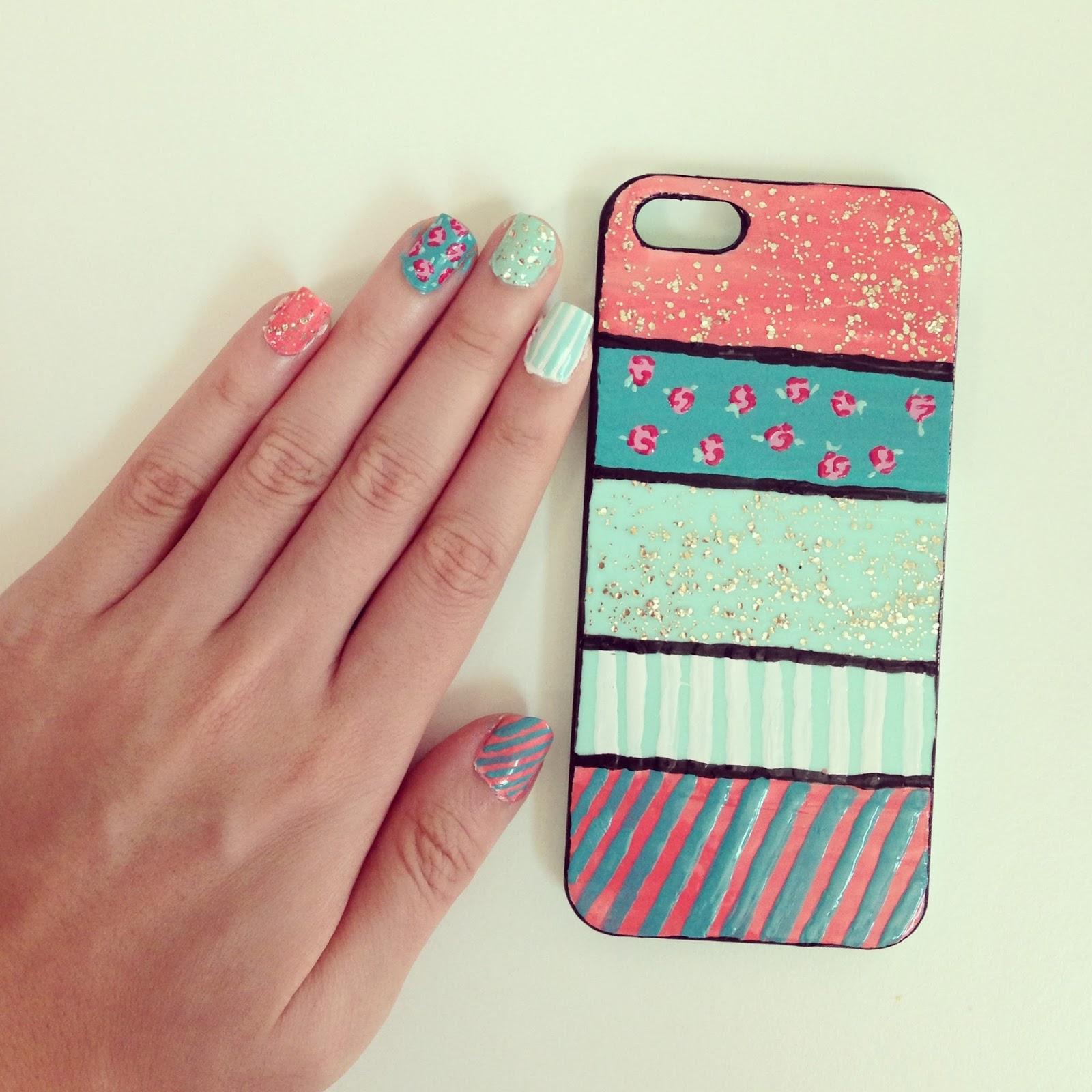 nail art: tumblr floral nails